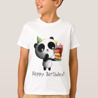 Geburtstag-Panda mit Kuchen T-Shirt