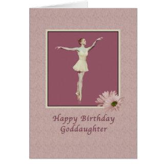 Geburtstag, Patenttochter, Ballerina auf Pointe Karte