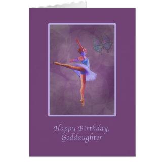 Geburtstag, Patenttochter, Ballerina in der Karte