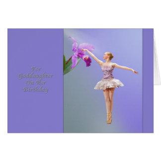 Geburtstag, Patenttochter, Ballerina, Orchidee Karte