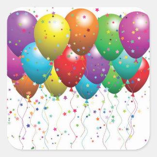 Geburtstag Quadratischer Aufkleber