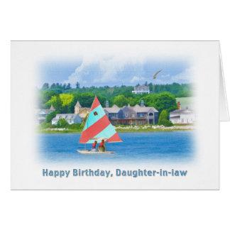Geburtstag, Schwiegertochter, Segelboot auf einem Karte
