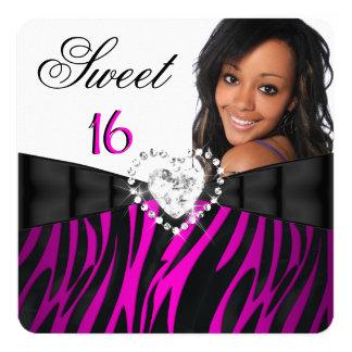 Geburtstag sechzehn des quadratische 13,3 cm einladungskarte