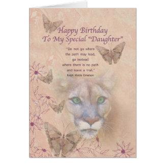 Geburtstag, spezielle Tochter, Puma und Karte