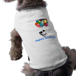 Geburtstag steigt Panda-Bären im Ballon auf Hundebekleidung