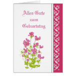 Geburtstag, süße Erbsen, Garten-Blumen deutsch Grußkarte