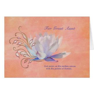 Geburtstag, Tante, Wasser-Lilie, religiös Karte