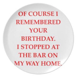 Geburtstag Teller