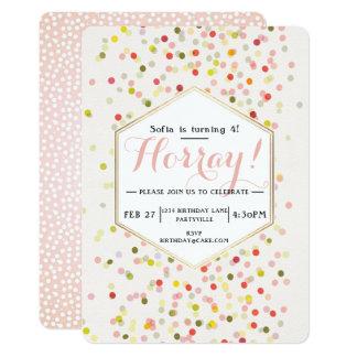 Geburtstagconfetti-Einladung Karte