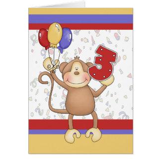 Geburtstags-Affe Grußkarte