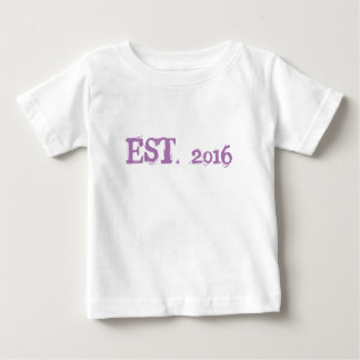 Geburtstags-Baby-Geldstrafe-Jersey-T - Shirt, weiß Baby T-shirt