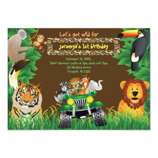Geburtstags-Baby, Safarigeburtstag, Dschungeltiere Karte