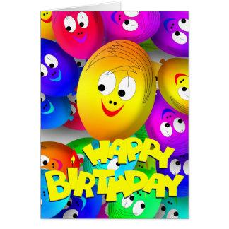 Geburtstags-Ballone Karte