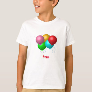 Geburtstags-Ballone mit Namen T-Shirt