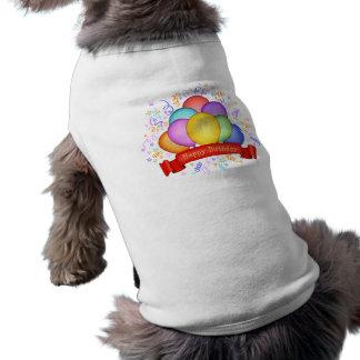Geburtstags-Ballone u Fahnen-Haustier-Kleidung Hunde Shirt