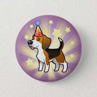 Geburtstags-Beagle Runder Button 5,1 Cm