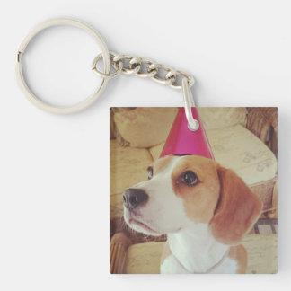 Geburtstags-Beagleschlüsselring Schlüsselanhänger