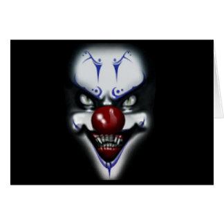 Geburtstags-beängstigender Clown Karte