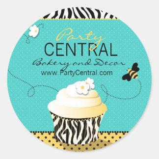 Geburtstags-Bienen-Geschäfts-Aufkleber Runder Aufkleber