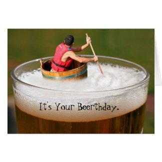 Geburtstags-Biertrinker-Grußkarte des Spaßes Karte