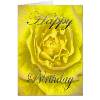 Geburtstags-Blume im Gelb und im Rosa Karte