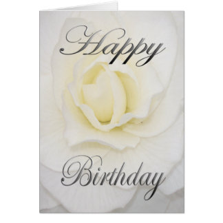 Geburtstags-Blume im Weiß Karte