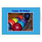Geburtstags-Bowlings-Bälle Karte