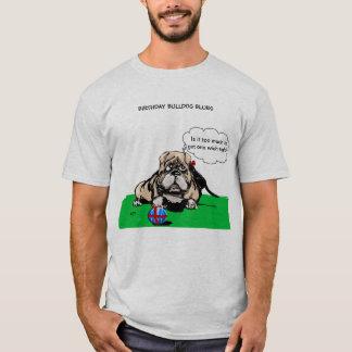 Geburtstags-Bulldoggen-Blues-T - Shirt