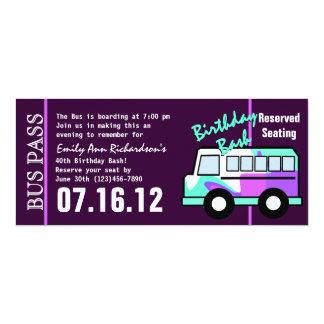 Geburtstags-Bus-Durchlauf 10,2 X 23,5 Cm Einladungskarte
