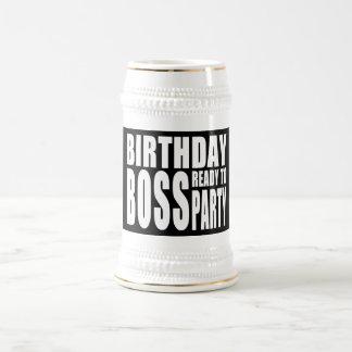 Geburtstags-Chef bereit zum Party Kaffeehaferl