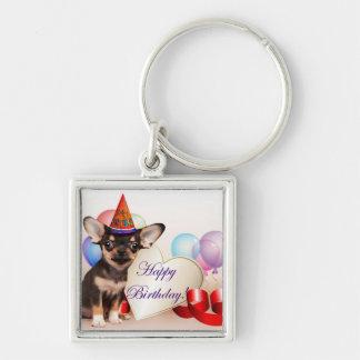 Geburtstags-Chihuahuahund Schlüsselanhänger