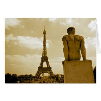 Geburtstags-Eiffelturm-Homosexuelles Grußkarte