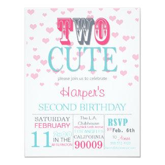 Geburtstags-Einladung zwei niedliche Valentines 2. Einladung