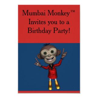 Geburtstags-Einladungen Mumbais Monkey™ für Kinder Karte