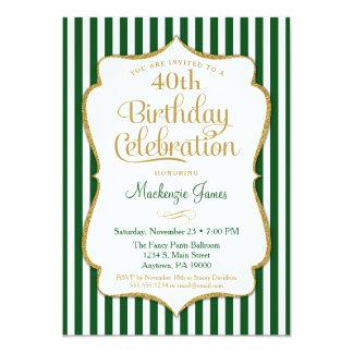 Geburtstags-Einladungs-Jäger-grünes Karte