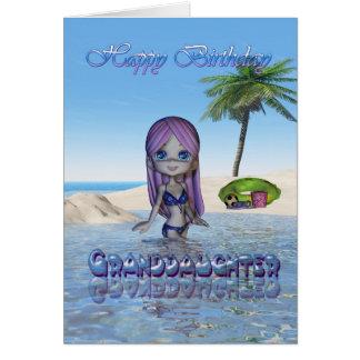 Geburtstags-Enkelin-Süsse-Torten-Sammlungsstrand Karte