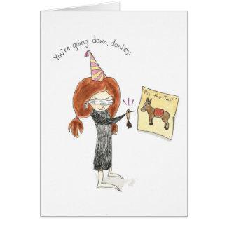 Geburtstags-Esel-Karte Grußkarte