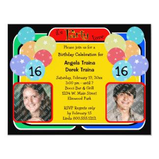 Geburtstags-Feier-Foto-Einladung 10,8 X 14 Cm Einladungskarte