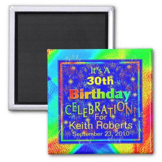 Geburtstags-Feier-Magneten Quadratischer Magnet