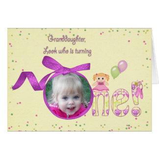 Geburtstags-Fotokarte der Enkelin erste Grußkarte
