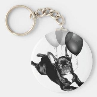Geburtstags-französische Bulldogge keychain Schlüsselanhänger