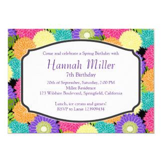 Geburtstags-Frühlings-Blüten-PartyChic 12,7 X 17,8 Cm Einladungskarte