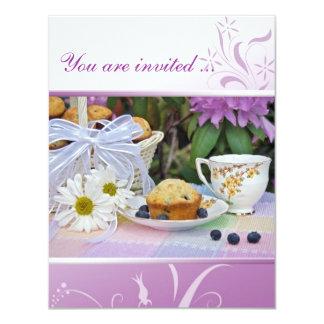Geburtstags-Frühstücks-Brunch laden ein 10,8 X 14 Cm Einladungskarte