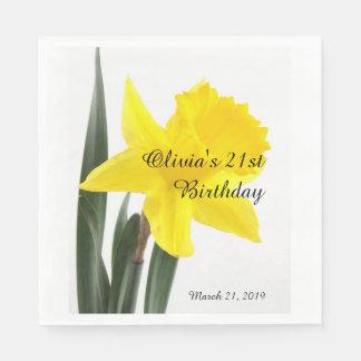 Geburtstags-gelbe Narzissen-Narzisse Papierservietten