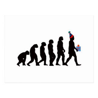 Geburtstags-Geschenke, Pary Evolution! Postkarte