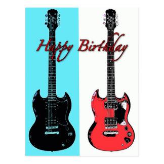 Geburtstags-Gitarren-Postkarte Postkarte