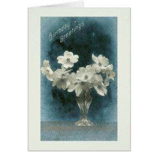 Geburtstags-Gruß-hübscher Vintager Karte