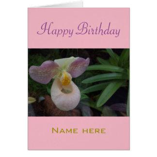 Geburtstags-Grüße mit einer schönen Orchidee Grußkarte