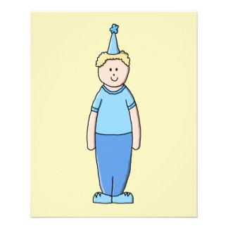 Geburtstags-Junge im Blau Custom Flyer