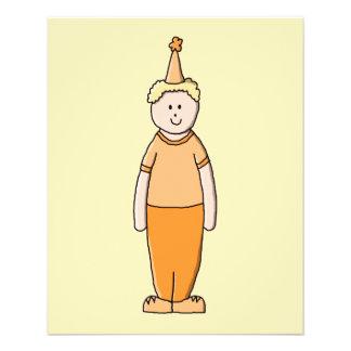 Geburtstags-Junge, in der Orange 11,4 X 14,2 Cm Flyer